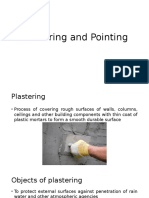 Plastering and Pointing