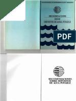 AEAS. 1990. Recomendaciones Sobre Depositos de Agua Potable