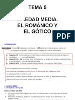 Tema 5- La Edad Media. El Romanico y El Gotico