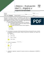 Evaluacion 8 Bc3a1sico 002 Algebra y Proporcionalidad 2013