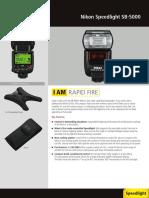 Leaflet c Nikon Speedlight Sb 5000 en--Original