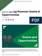 2016 Spring_Summer Grants & Opportunities _ International Documentary Association
