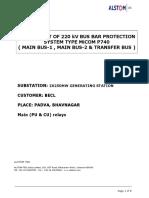 Test Report of 220kV Bus Bar System