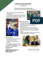 Teacher Recruitment Advert Oct16