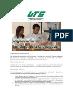 Perfil de Ingreso del Ingeniero en Tecnologías para la Automatización