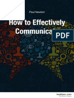 How to Effectively Communicate