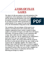 Analysis of Flue Gases