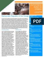 Humanitarian Action for Children - UNICEF DRC 2017