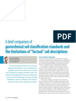 A Brief Comparison of Geotechnical Soil Classification Standards