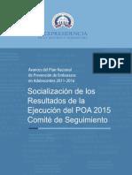 Avances del Plan Nacional de Prevención de Embarazos en Adolescentes 2011-2016