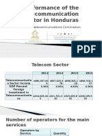 Performance of the Telecommunication Sector in Honduras