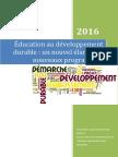 Éducation au développement durable