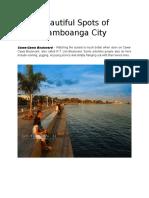 Beautiful Spots of Zamboanga City