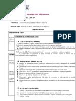 Registro de Programa de DERECHO PENAL
