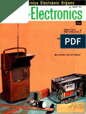 Radio Electronics 1959 08 | Vacuum Tube | Resistor