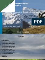 Analiza Comparativa a Doua Arii Protejate Parcul National Muntii Rodnei - Gran Paradiso