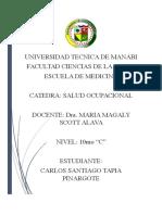 Carpeta de Salud Ocupacional Santiago Tapia