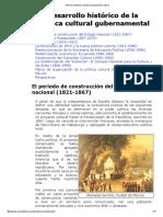 Desarrollo Histórico de La Política Cultural