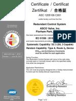 ASCO SIL Certificate