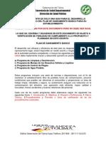 Plan de Saneamiento Basico Gobernacion Del Tolima 1