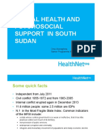 Mhpss South Sudan Hntpo