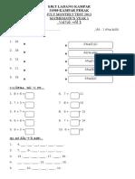Monthly Test July Y1 Mathematics '13.doc