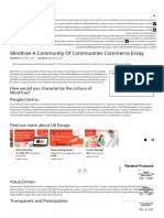 Mindtree a Community of Communities Commerce Essay