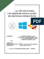 Manual Técnico Para Usuarios de Instalación de Sistemas Operativos