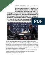 Partida 8 Match Carlsen Karjakin