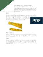 Alex Trabajo Instrumentos de Medición de Las Piezas Metálicas