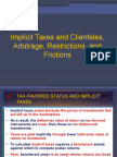 Implicit Taxes Arbitrage Restrictions and Frictions