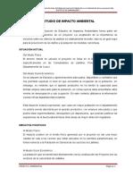 IMPACTO AMBIENTAL EN PROYECTO DE AGUA