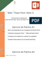 Taller- Power Point -Parte IV
