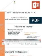Taller- Power Point -Parte III-A