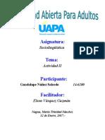 Tarea II Sociolinguistica Guadalupe Nuñez