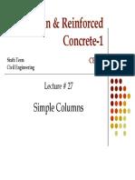 Lec 22 Columns