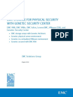 Emc Storage Physical Security Vnx Vnxe Isilon Genetec Security Center