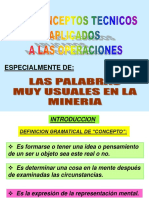 Conceptos técnicos Aplicados a la Mineria