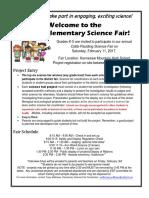 Elementary Science Fair Flyer 2017