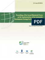 Proceedings of the Second Ministerial Forum on the Implementation of the Sustainable Development Strategy for the Seas of East Asia