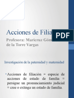 Acciones de Filiaci+¦n
