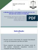 Apresentação Modelo Slide Desigualdade Social