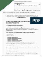 Identificación de Instalaciones Frigoríficas y de Sus Componentes