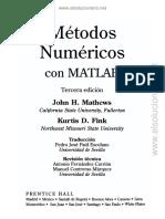 metodos numericos con matlab mathews pdf
