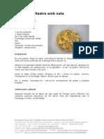 Primers i Segons Plats Filets de Pollastre Amb Nata Sandrine Rojas
