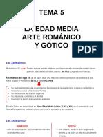 Tema 5- La Edad Media. El Romanico y El Gotico 3a Parte 1