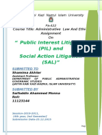 Public Interest Litigation and Social Interest Litigation