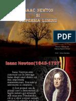 Isaac Newton Si Dispersia Luminii