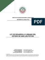 Ley de Desarrollo Urbano Del Estado de San Luis Potosi
