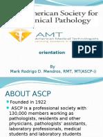 ASCP i Orientation